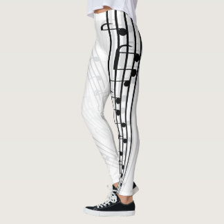 Music Notes Sheet Leggings
