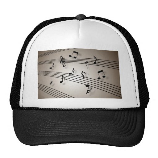 Music Notes - Sheet Music Trucker Hats