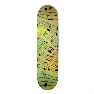 Music notes skate board