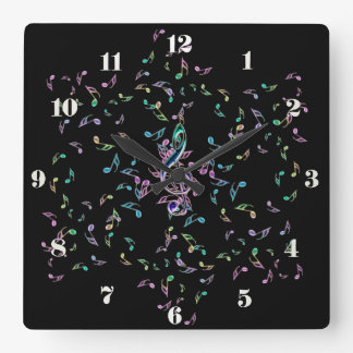 Music Notes Star Wall Clock