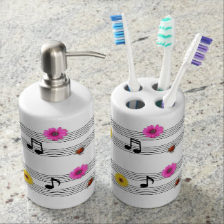 Music Notes Toothbrush/Soap Set