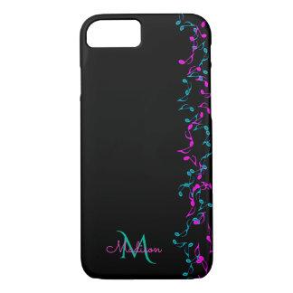 Music Notes Vines Monogram iPhone 7 Case