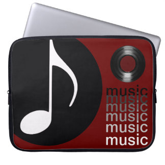 music notes vinyl record laptop sleeve