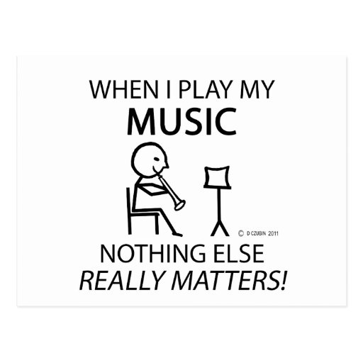 Music Nothing Else Matters Post Cards