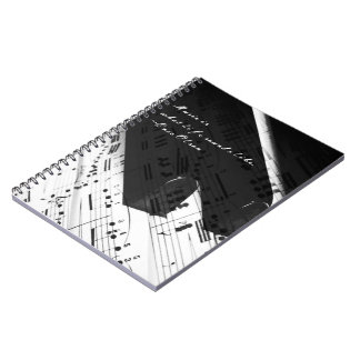 Music of Life: Piano Keys & Notes Notebooks