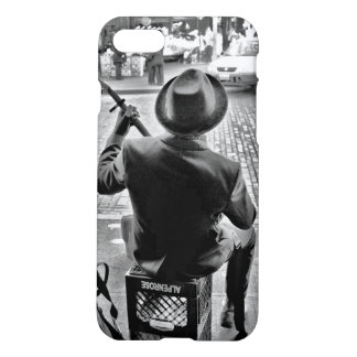 Music on the Street - Black and White iPhone 7 Case