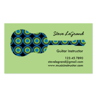 Music or Guitar Instructor Business Card