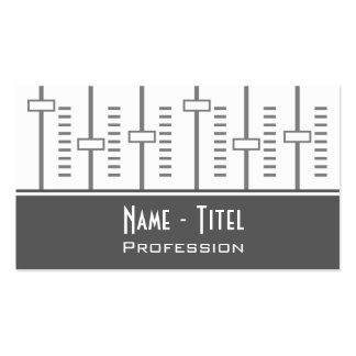 Music Pack Of Standard Business Cards