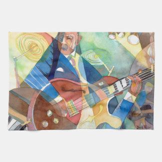 "Music Painting ""Jazz Guitarist"" Towel"