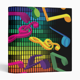 Music Party Background Vinyl Binders