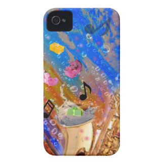Music party celebration iPhone 4 case