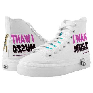 Music Party Rocking Custom Zipz High Top Shoes