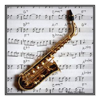 Music Party Saxophone Jazz Customizable Invitation