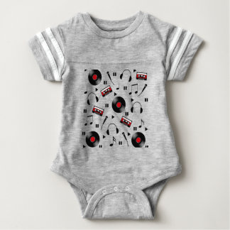 Music pattern baby bodysuit