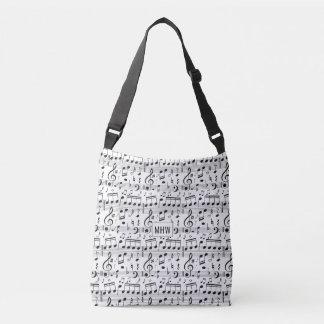 Music Pattern custom monogram bags