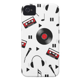 Music pattern iPhone 4 Case-Mate cases