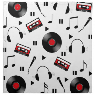 Music pattern napkin