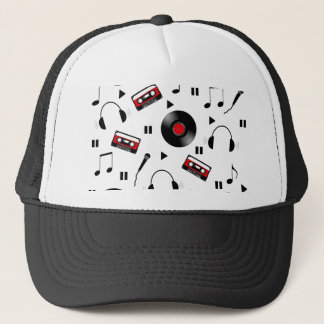 Music pattern trucker hat