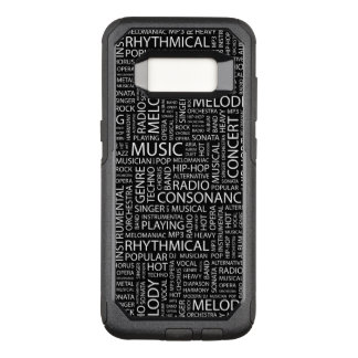 MUSIC pattern word cloud OtterBox Commuter Samsung Galaxy S8 Case