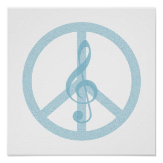 Music Peace Symbol Posters