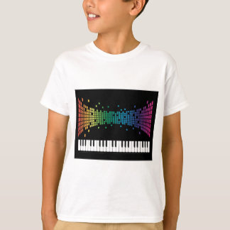 Music piano instrumental keyboard multicolored T-Shirt