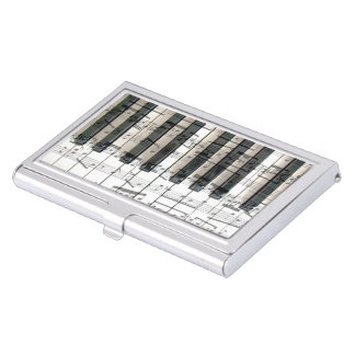 music piano keyboard business card holder