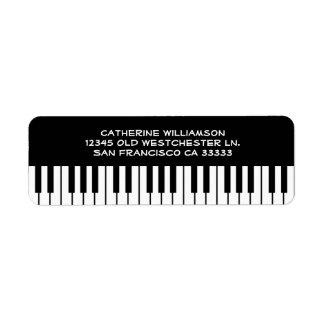 Music Piano Keyboard Keys Custom Name or Company