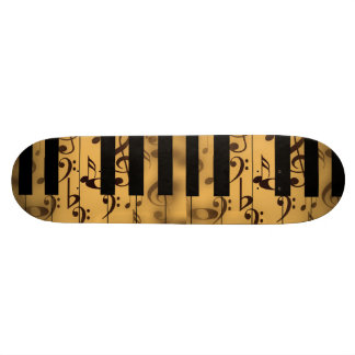Music Piano Keys Notes Teacher Destiny Instruments Skate Board Deck