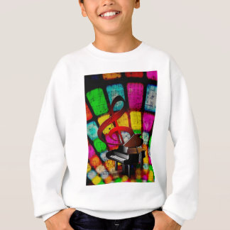 Music Piano Keys Notes Teacher Destiny Instruments Sweatshirt