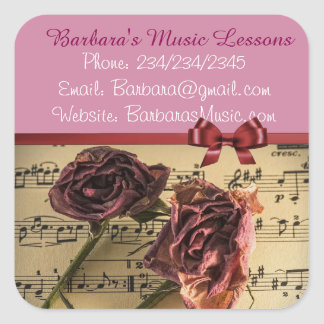 Music Piano Lessons Promotional Stickers