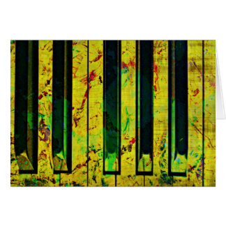 Music Piano Style Card