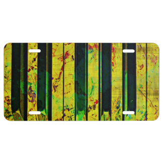 Music Piano Style License Plate