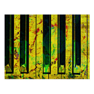 Music Piano Style Postcard