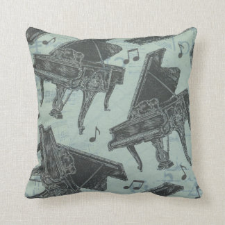 "Music Piano Throw Pillow 16"" x 16"""