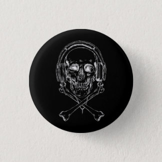 Music Pirate And Proud - X-Ray 1 Inch Round Button