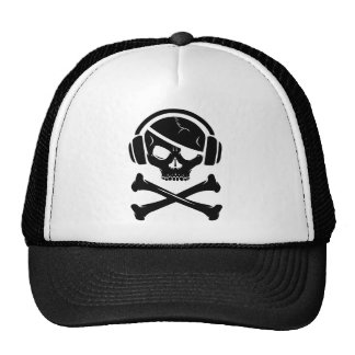 Music Pirate Piracy anti-riaa logo Trucker Hats