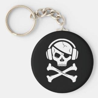 Music Pirate Piracy anti-riaa logo Keychain