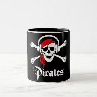 Music Pirates Two-Tone Coffee Mug