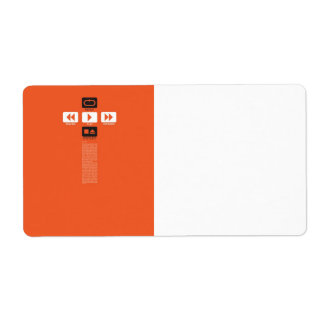 Music Play Shipping Label