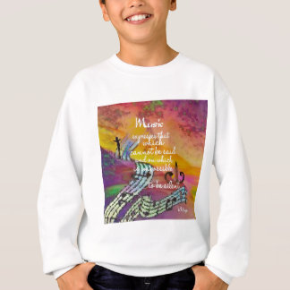 Music possesses a special charm difficult to hide sweatshirt