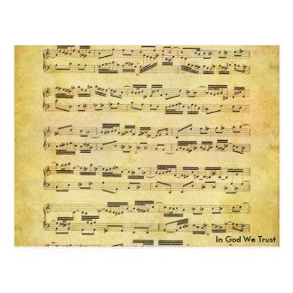 Music postcard 24