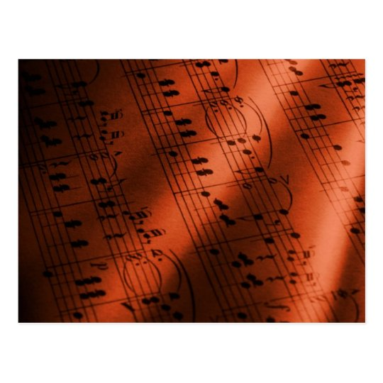 music postcard 47