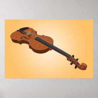 Music Poster: Violin 3D Model Poster