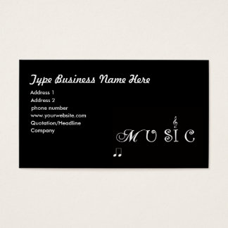 Music Professional  Business Card