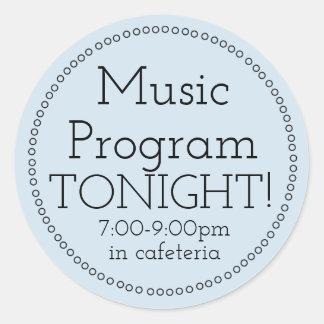 Music Program Tonight Stickers