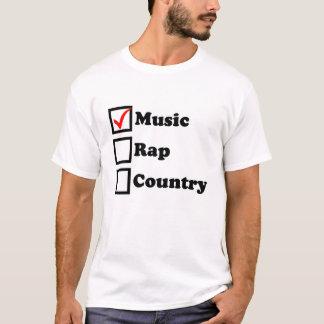 Music Rap Country Checkbox T-Shirt