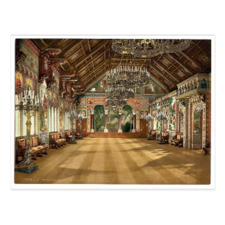 Music room, Neuschwanstein Castle, Upper Bavaria, Postcard
