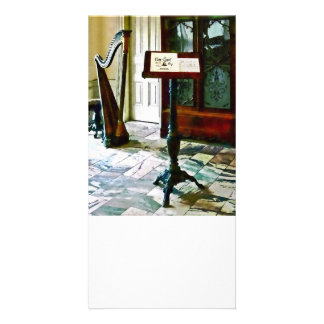 Music Room With Harp Photo Cards