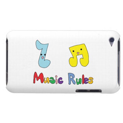 Music Rules Cute Music Notes Barely There iPod Cases