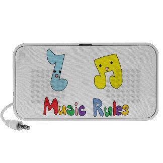 Music Rules Cute Music Notes Mp3 Speaker